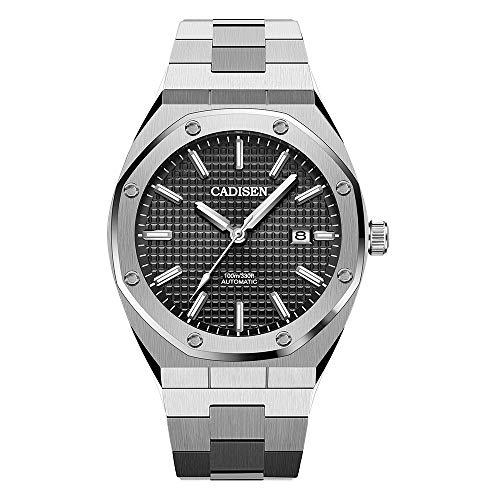 Herren Automatik-Uhr Armbanduhr Automatikwerk mit Edelstahlband (Gitter)