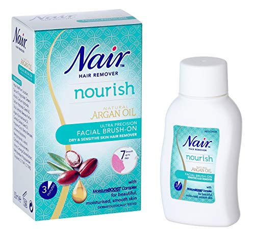 Nair - Nourish Facial Brush-On - Hair remover - Ultra precision - for Dry &...