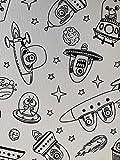 atenas home textile Mantel Infantil con Motivos de Aliens para Colorear con rotuladores incluidos.