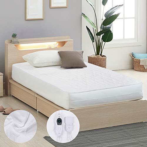 Wärmeunterbett Misiki Elektrische Heizdecke Heizmatratze 80 x 150 cm für Bett mit 3 Temperaturstufen, Matratzendecke Warme Unterdecke Elektrischer Heizung Abschaltautomatik und Überhitzungsschutz
