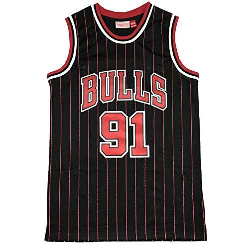 CLKI # 91 Bulls Ḋennis Rodman Bordado Camisetas De Baloncesto Retro,Chaleco Activo De La Camiseta Transpirable De La Moda De Hip Hop Al Aire Libre De Los Hombres Light Brown-XL