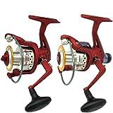 Paladin Big Bull Pro Spinrolle FD & RD - Spin Rolle/Angelrolle/Stationärrolle - 1000 bis 6000 mit Frontbremse oder Heckbremse + Ersatzspule (1000 RD (Heckbremse) - Schnurfassung: 240m/0.15mm)