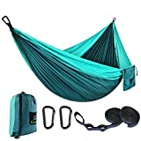 CAMDEA Single Camping Hammock with Tree Straps, Camp Lightweight Portable Hammock Chair, Hammock Tent Swing for Sleeping, Backpacking, Travel, Outdoor, Beach, Hiking, Sport