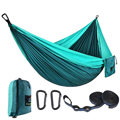 CAMDEA Single Camping Hammock with Tree Straps Camp Lightweight Portable Hammock Hammock Tent Swing for Sleeping Backpacking Travel Outdoor Beach Hiking Sport