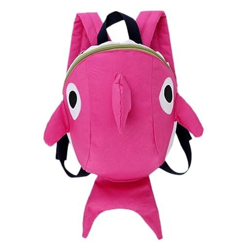 Mochilas Infantiles, 2 a 6 años Niños Niña 3D Tiburón Animal Mochilas Colegio Bolso para