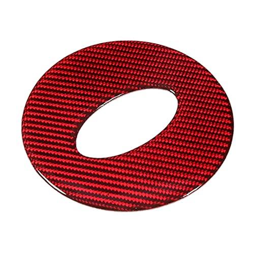 Zhengwang Department Store - Adhesivo para volante de fibra de carbono (1 unidad, apto para Subaru Forester 2016-2018), color rojo
