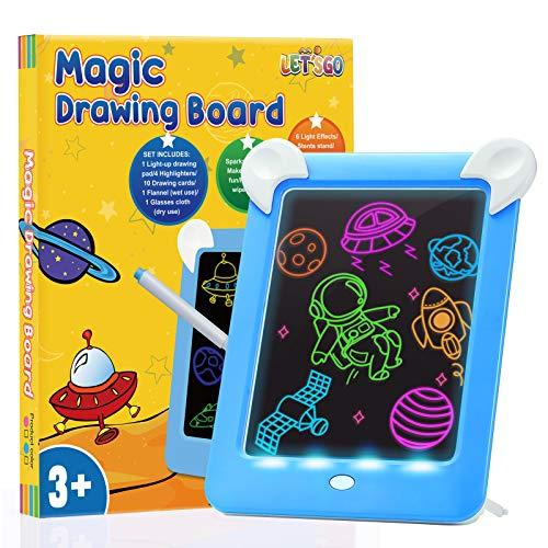 DreamToy Giocattoli Bambino 3-10 Anni, Lavagna Magnetica per Bambini Regalo Bambino 3-10 Anni Giocattoli per Bambini 3-10 Anni Tablet per Bambini Regalo Bambini Tablet Magico per Bambini Luminoso Blu