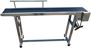 110V Electric Single Guardrail Conveyor Belt Machine Packaging Transport Machine 59