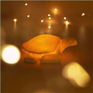 Sea Turtle Night Light Battery Powered Automatic Timer Sandstone Animal Night Light Ocean Theme Decor Beach Decorations fo...