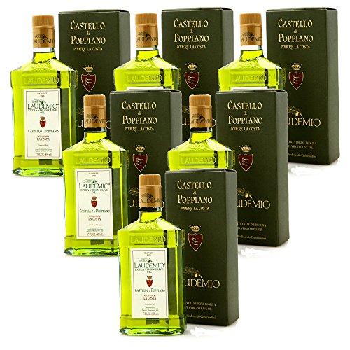 Laudemio Podere La Costa Castello di Poppiano Italian Extra Virgin Olive Oil (6 Bottles cl. 50)