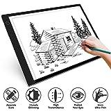 Tablette Lumineuse A4,UltraMince Portable Lumineuse Dessin LED Avec 3 Luminosité Réglable Table à Dessin Avec Ligne d'échelle Précise USB,Dessin Lumineuse Pad Pour Dessin,Animation, Esquisse, Design