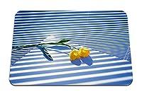 26cmx21cm マウスパッド (チューリップ花2窓ブラインド光影) パターンカスタムの マウスパッド