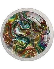 Iriserende 4 stks Dressoir Lade Knoppen Glas knoppen Kast knoppen Trekt Handvat Kast Knoppen voor Home Office Kast Keuken
