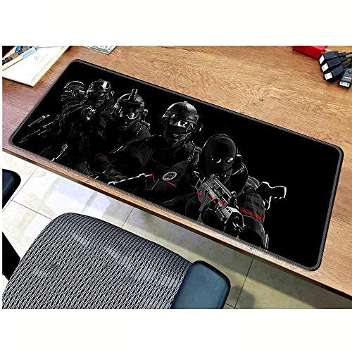 CFTGB Gaming-muismat Rainbow Six onderlegger groot toetsenbord muis, geavanceerde gaming-muismat voor PC computer