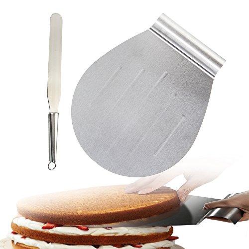 Acier inoxydable gâteau Lifter Palette glaçage Spatule couteau à gâteau Pelle Plateau Outil de cuisson