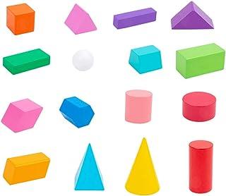 Wooden Geometric Solids,Children's cognitive shape early education educational toys, Montessori 3D Shapes Miniature Set
