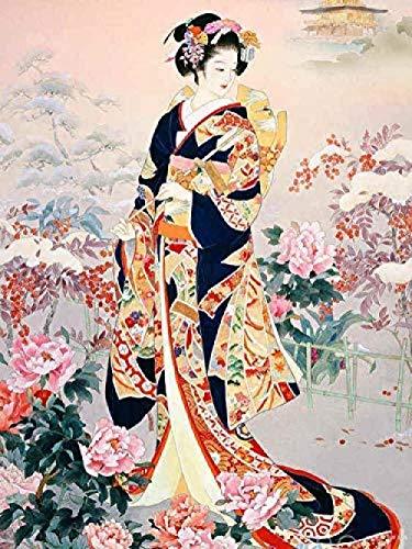 Diy Ölgemälde Geisha Malen Nach Zahlen Kits Diy Leinwand Gemälde Für Erwachsene Kinder Anfänger 16