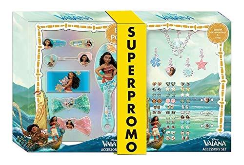 HOVUK - Pulsera de vaiana con licencia de Disney para niñas, pegatina, pendientes, anillos, joyas y accesorios para el pelo, regalo de Navidad para niños a partir de 3 años
