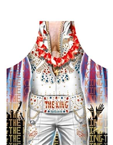 Geile-Fun-T-Shirts Grillschürze Elvis The King Küchenschürze Schürze geil Bedruckt Geschenk Set mit Grillmeister Urkunde