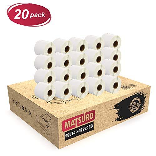 Matsuro Original | Kompatibel Rollen Etiketten Ersatz für DYMO 99014 S0722430 (54 mm x 101 mm | 220 Etiketten pro Rolle | 20-er PACK)