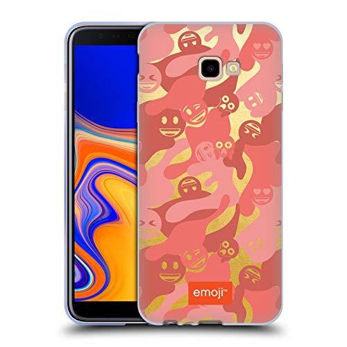 Head Case Designs Oficial Emoji® Camuflaje Coral Vivo Carcasa de Gel de Silicona Compatible con Samsung Galaxy J4+ / Plus