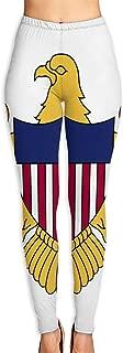 Women's Yoga Pants Flag of The United States Virgin Islands Elastic Workout Running Leggings Pants M