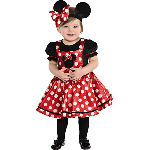 Disney Baby Minnie Mouse soft velour dress party magical