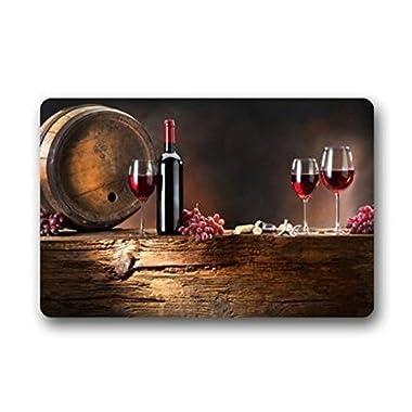 Red Wine Stain Resistant Color Indoor/outdoor Floor Mat Doormat Decor Rug,23.6 x15.7  by JackieTD