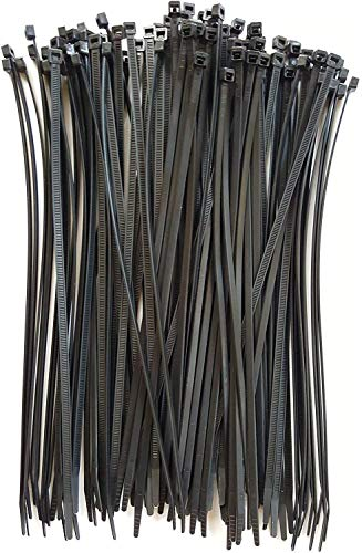 Cable Ties. Standard Duty 11.1 Inch Premium Nylon Wire Management Zip-Ties. 50 LB Tensile Strength. USA Strong Cable Ties (11' UV Black 100 Pack)