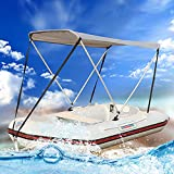 RYUNQ Tenda per tendalino Gonfiabile per Kayak, Copertura superiore Bimini con protezione UV, Barche Pesca Tendalino impermeabile, Pieghevole Coperchio Superiore per Barca da pesca, Gommone