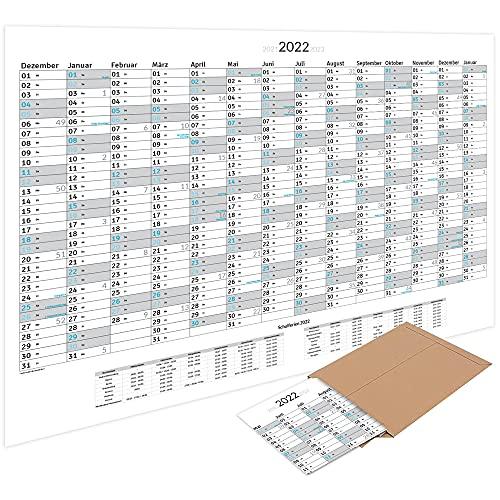 XXL wandkalender jaarplanner 2022 (100 x 70 cm) gevouwen in poster grootte. Landschap formaat, gevouwen – wandplanner…