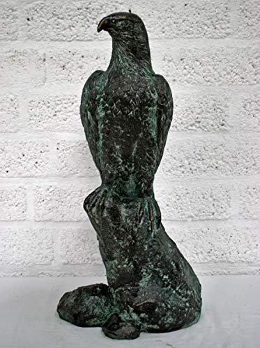 H. Packmor GmbH bronzen sculptuur adelaar op rots vogel brons figuur beeldje decoratie