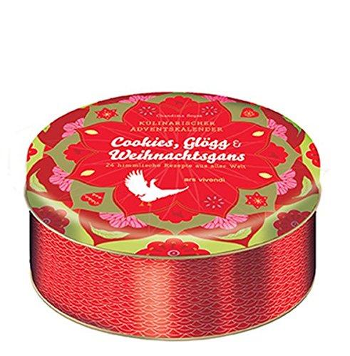 Kulinarischer Adventskalender Cookies, Glögg und Weihnachtsgans - 24 himmlische Weihnachtsrezepte aus aller Welt - In Blechdose mit 24 Karten zum ... mit 24 himmlischen Rezepten aus aller Welt