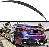 Cuztom Tuning Fits for 2014-2020 Infiniti Q50 Q50S VIP Sleek ABS Trunk Lid Spoiler Wing Matt Black Primer Finish