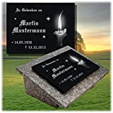 LaserArt24 Granit Grabstein, Grabplatte oder Grabschmuck mit dem Motiv Grabstein-gg31s und Ihrem Text/Daten