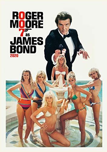 Calendario de pared 2020 [12 páginas 8 x 11 pulgadas] James Bond 007 Roger Moore Vintage Movies Posters