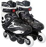 Roller Skates en ligne Chaussures de patinage de vitesse pour l'homme et la femme unisexe pour adultes en fibre de carbone des débutants de débutant de loisirs en plein air Fitness Pour les femmes et