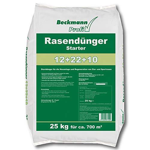 Beckmann Profi Rasendünger Starter 25 kg Rasenstarter Dünger mit viel Phosphat für ca. 700 m²