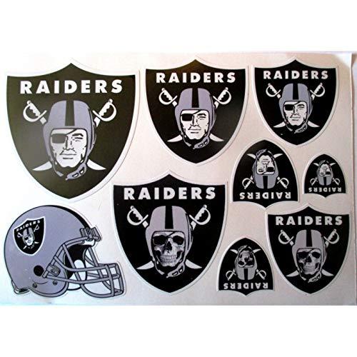 hotrodspirit – 1 Bogen Sticker Football American Oakland Raiders Dekoration Auto Motorrad Fan Musik
