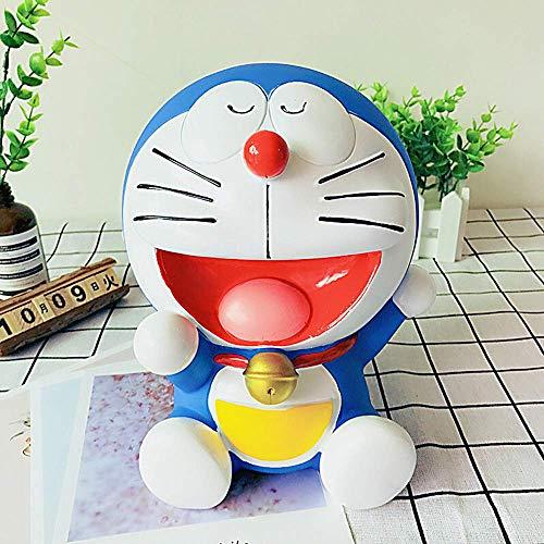 LIYONG Blue Doraemon Piggy Bank Dibujos Animados Creatividad Encantadora Cambio Cambio irrompible Vinilo Decoraciones Decoración de la habitación HLSJ (Color : A)