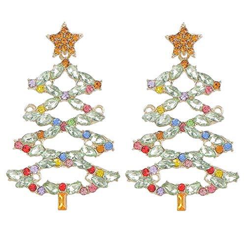 Vvff Pendientes De Árbol De Navidad De Metal Accesorios Populares De Joyería De Fiesta De Año Nuevo Para Mujeres