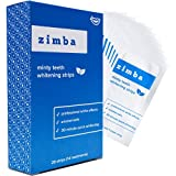 Zimba Teeth Whitening Strips - Professional-Grade Whitener, Formulated for Sensitive Teeth, Natural & Enamel-Safe Ingredients, Delicious Mint Flavor, 28 Strips (14 Stain Removal Treatments)