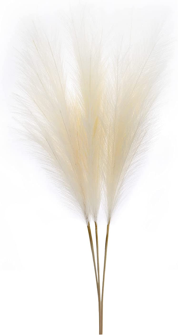 Faux Pampas Grass Cheap super special price Large 3-Pack Artificial Mess-Free Pamp 45.6