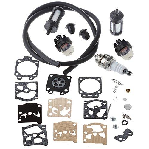 Hipa Carburetor Repair Kit with Primer Bulb Fuel Line Filter for STHIL FS36 FS40 FS44 FS44R String Trimmer