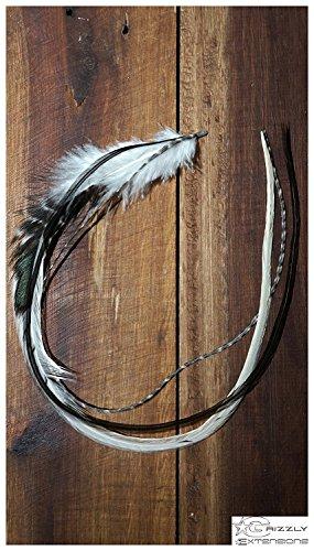 Extensions à plumes EasyIn - Noir et blanc