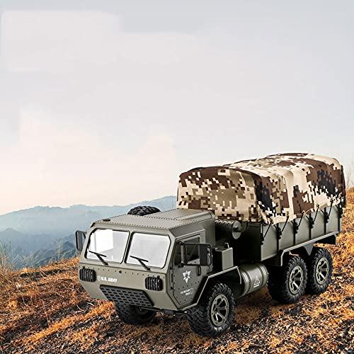 ZDYHBFE RC Full Scale Con Diferencial, 6 Ruedas Motrices Pickup Coche De Control Remoto 2.4 Camión Militar Pesado Todoterreno, Vehículo Militar De Escalada Con Control Remoto, Puede Transportar 1500 G