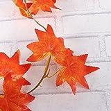 WINOMO 2 Stücke Herbstgirlande mit Ahorn Blättern Tischdeko künstlich Fensterdeko 2.4M - 2