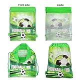 Qpout Fußball Taschen 12 STÜCKE Kordelzug Fußball Rucksack Kindergeburtstag Gastgeschenke Liefert Goodie Taschen für Kinder Mädchen Jungen Kleinkinder - 3