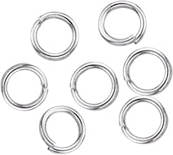 B.D craft 2000pcs Stainless Steel Open Jump Rings O Ring Closed but Unsoldered Split Rings Metal Connector Loops for DIY J...