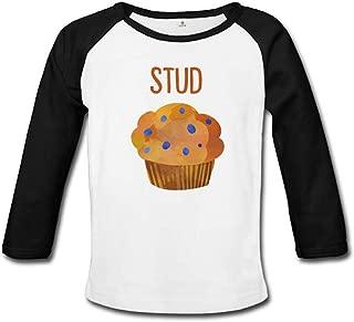 Stud Muffin Unisex Infant Raglan Tee White
